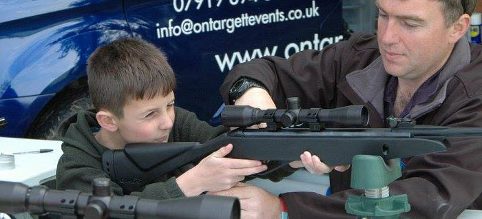 air rifle shooting hire
