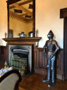 Full suit of armour in the entrance hall of Westbury Castle